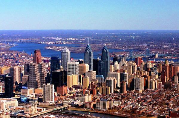 Philadelphia Poster featuring the photograph Philadelphia Skyline 2005 by Duncan Pearson
