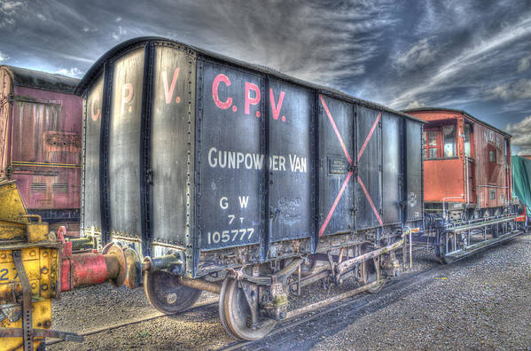 British Rail Poster featuring the photograph Railway Gunpowder Wagon by Chris Thaxter