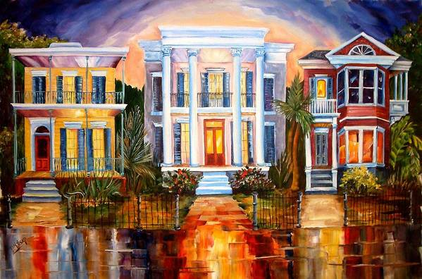 New Orleans Poster featuring the painting Uptown Tonight by Diane Millsap