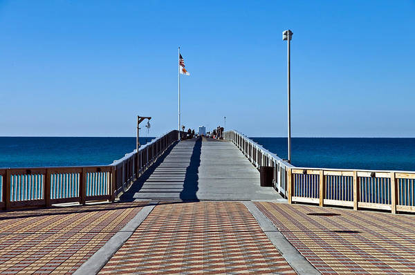 Wooden Poster featuring the photograph Fishing Pier by Susan Leggett