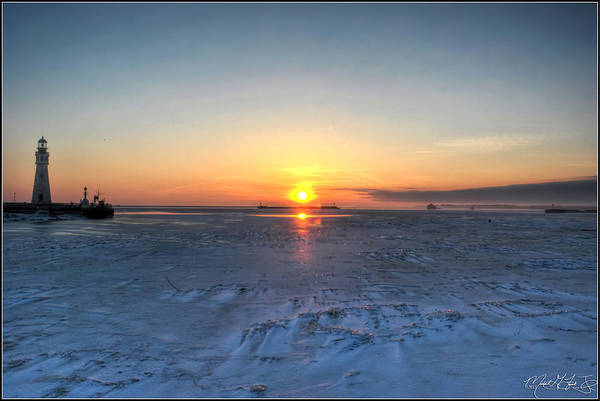Sunset Poster featuring the photograph 0012 Even On Our Coldest Days We Still Get Blessed With Gorgeous Rays Series by Michael Frank Jr