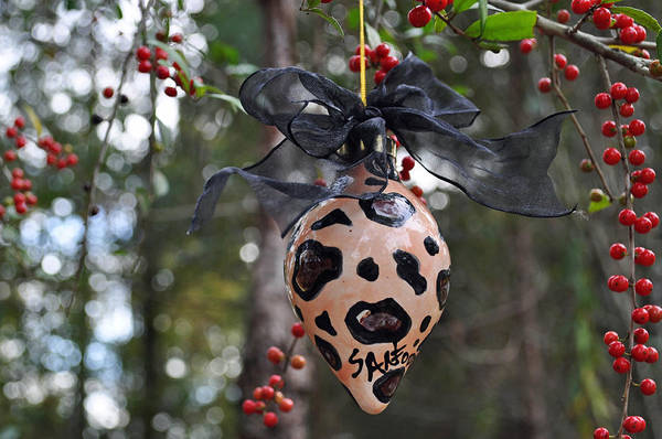 Ornament Poster featuring the ceramic art Majolica Maiolica Ornament by Amanda Sanford