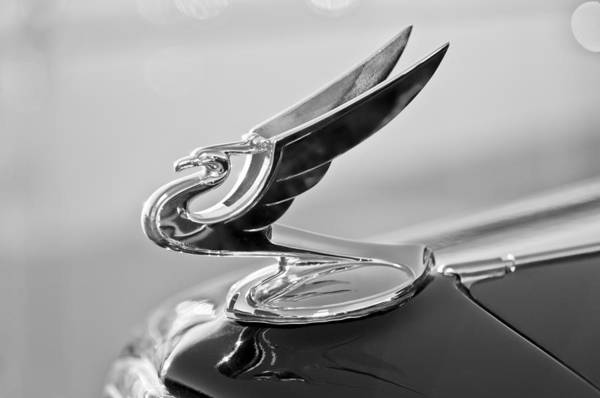 1935 Chevrolet Hood Ornament Poster featuring the photograph 1935 Chevrolet Hood Ornament 4 by Jill Reger