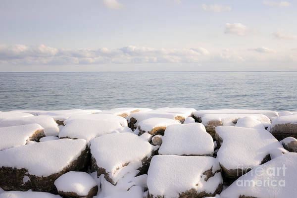 Boulders Poster featuring the photograph Winter Shore Of Lake Ontario by Elena Elisseeva