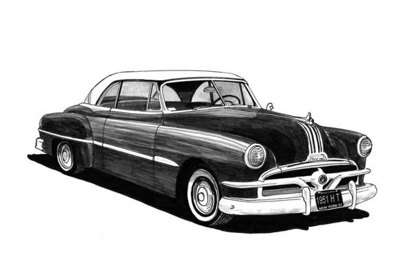 1951 Pontiac H T Poster featuring the painting 1951 Pontiac Hard Top by Jack Pumphrey