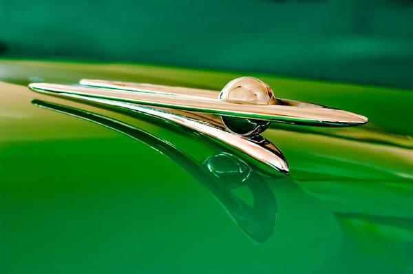 1955 Packard Clipper Custom Sedan Poster featuring the photograph 1955 Packard Clipper Hood Ornament 3 by Jill Reger