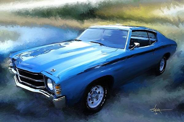 1971 Poster featuring the painting 1971 Chevy Chevelle by Robert Smith