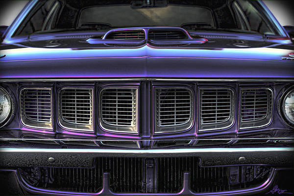 Plum Poster featuring the photograph 1971 Plymouth 'cuda 440 by Gordon Dean II