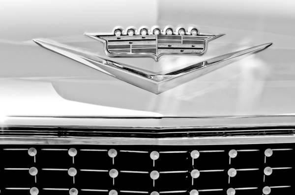 1958 Cadillac Eldorado Biarritz Convertible 1958 Cadillac Poster featuring the photograph 1958 Cadillac Eldorado Biarritz Convertible Emblem by Jill Reger