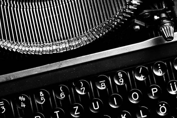Schreibmaschinentasten Poster featuring the photograph Typewriter by Falko Follert