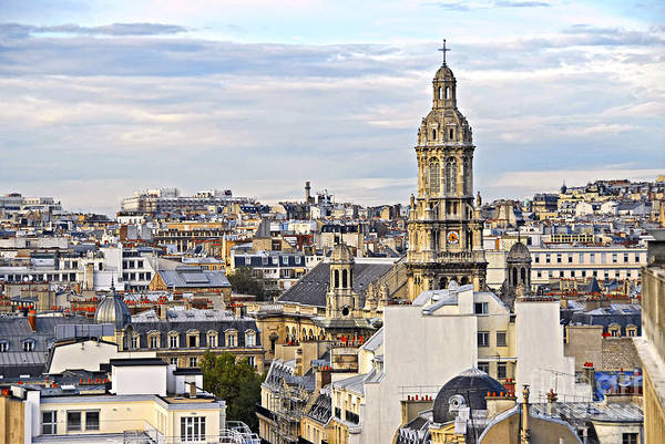 Paris Poster featuring the photograph Paris Rooftops by Elena Elisseeva