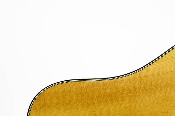Guitar Poster featuring the photograph Acoustic Curve by Bob Orsillo