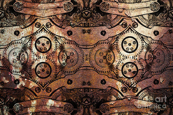 Steampunk Poster featuring the photograph Age Of The Machine 20130605rust by Wingsdomain Art and Photography
