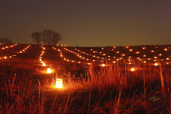 A Large Field With Hundreds Of Luminaries Along The Hagerstown Pike On The Antietam National Battlefield. This Is In An Area Known As The North Woods. Each Year 23 Poster featuring the photograph Along Hagerstown Pike 12 by Judi Quelland