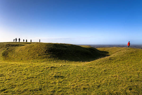 Hill Of Tara Poster featuring the photograph Ancient Hill Of Tara In The Winter Sun by Mark Tisdale