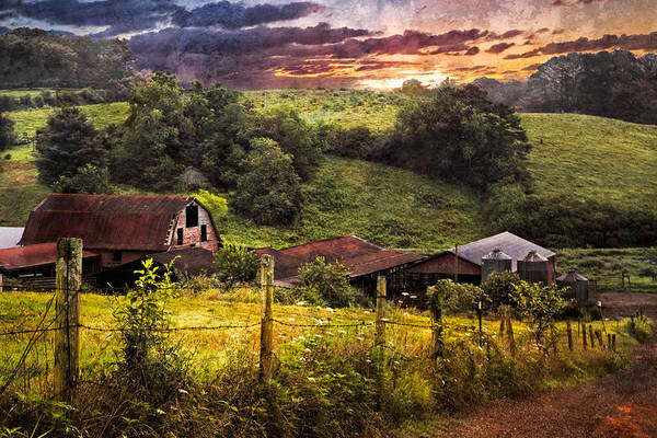 Appalachia Poster featuring the photograph Appalachian Mountain Farm by Debra and Dave Vanderlaan