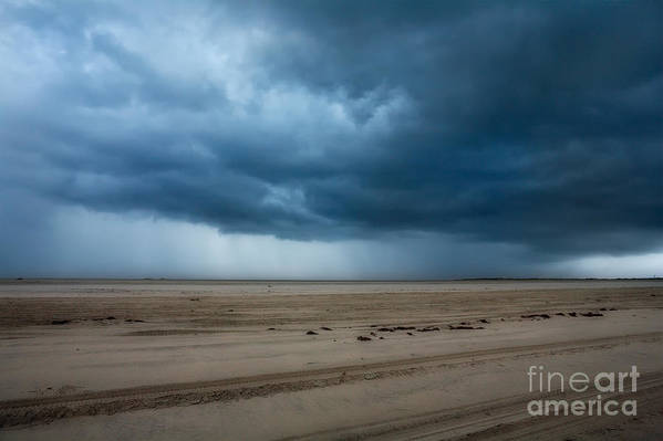 North Carolina Poster featuring the photograph Approaching Storm - Outer Banks by Dan Carmichael