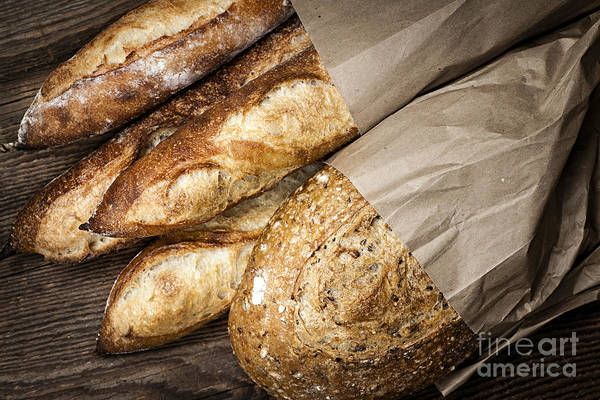 Bread Poster featuring the photograph Artisan Bread by Elena Elisseeva