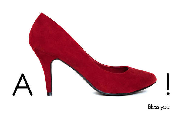 Shoe Poster featuring the photograph Ashoe - Bless You by Natalie Kinnear