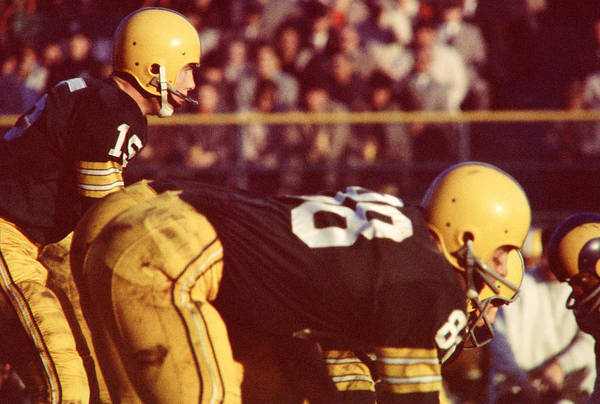 Marvin Newman Poster featuring the photograph Bart Starr Ready For Snap by Retro Images Archive