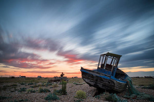 Long Exposure Poster featuring the photograph Boat Long Exposure Sunset by Matthew Gibson