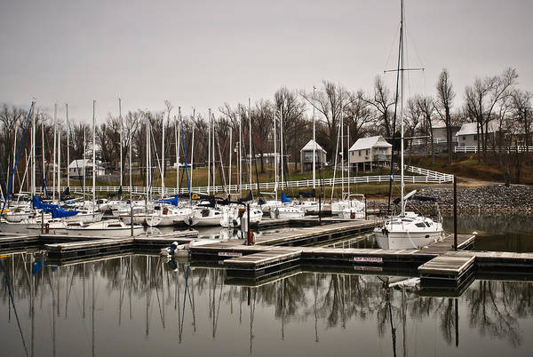 Boats And Cottages Overcast Day Poster featuring the photograph Boats And Cottages On Overcast Day by Greg Jackson