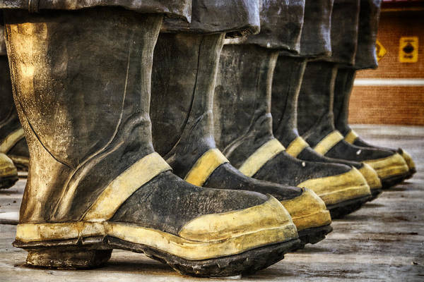 Worker Poster featuring the photograph Boots On The Ground by Joan Carroll