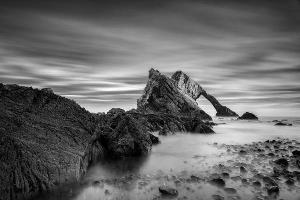 Bow Fiddle Rock Poster featuring the photograph Bow Fiddle Rock 1 by Dave Bowman