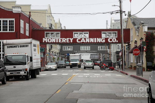 Monterey Poster featuring the photograph Calm Morning At Monterey Cannery Row California 5d24773 by Wingsdomain Art and Photography