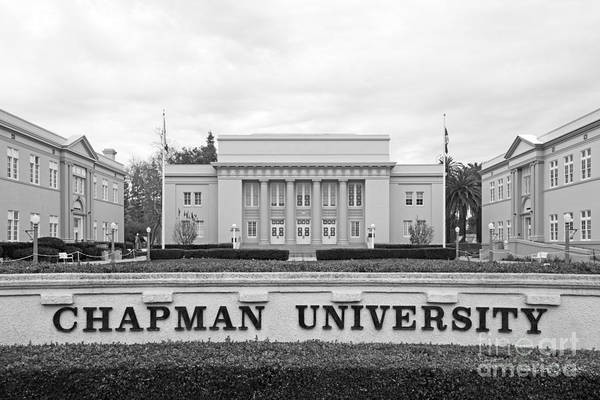 California Poster featuring the photograph Chapman University Memorial Hall by University Icons