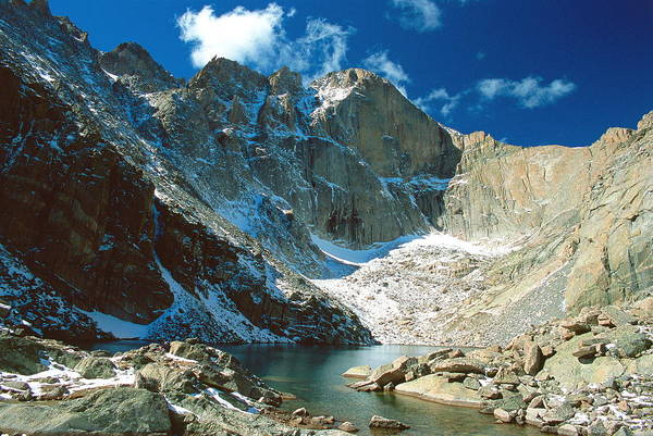 Landscape Poster featuring the photograph Chasm Lake by Eric Glaser
