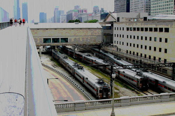 Chicago Poster featuring the photograph Chicago - South Shore Train Yard by Greg Thiemeyer