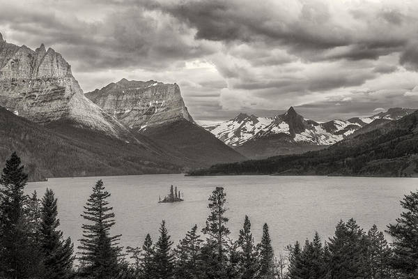 Art Poster featuring the photograph Cloudy Mountain Top by Jon Glaser