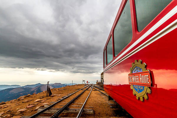 Cog Railway Poster featuring the photograph Cog At 14115 Feet by Jeff Stoddart