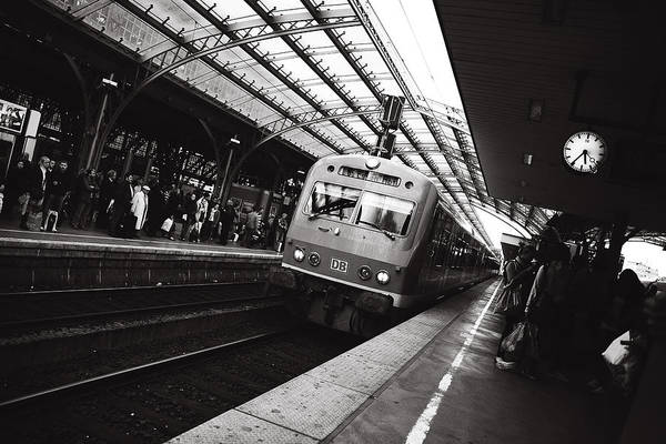 Trainstation Poster featuring the photograph Cologne Trainstation by Jimmy Karlsson