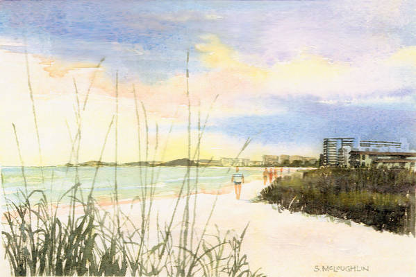 Crescent Beach Poster featuring the painting Crescent Beach by Shawn McLoughlin