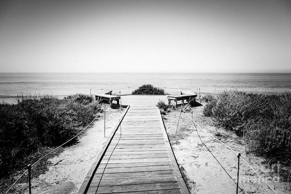 America Poster featuring the photograph Crystal Cove Overlook Black And White Picture by Paul Velgos