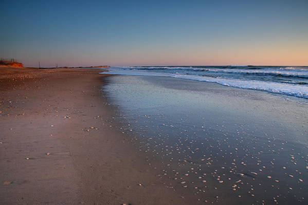Beach Poster featuring the photograph Daybreak On Hatteras II by Steven Ainsworth