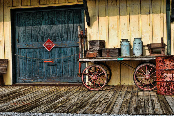 Kenny Francis Poster featuring the photograph Depot Wagon by Kenny Francis