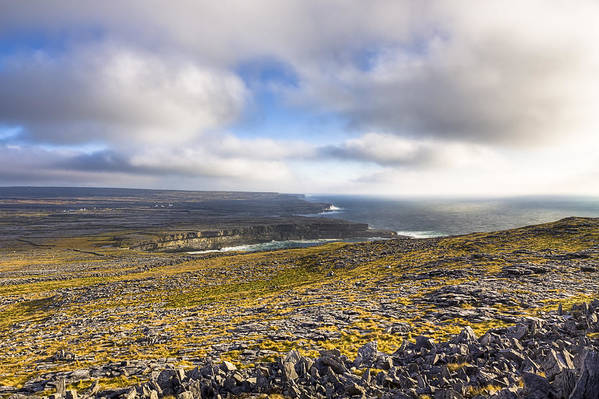 Galway Poster featuring the photograph Dramatic Landscape Of The Aran Islands by Mark Tisdale