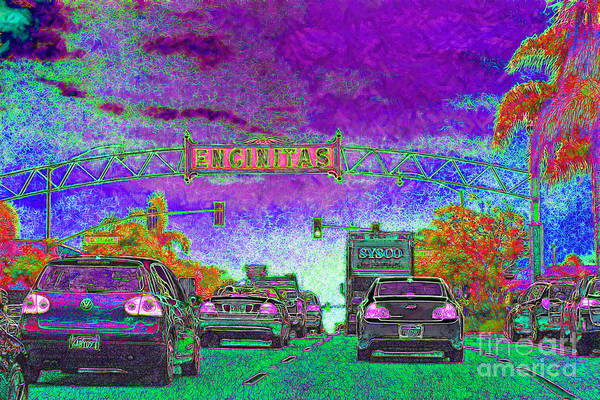 Encinitas Poster featuring the photograph Encinitas California 5d24221m68 by Wingsdomain Art and Photography