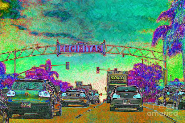 Encinitas Poster featuring the photograph Encinitas California 5d24221p180 by Wingsdomain Art and Photography