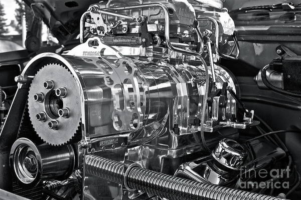 Motor Poster featuring the photograph Engine Envy by Linda Bianic