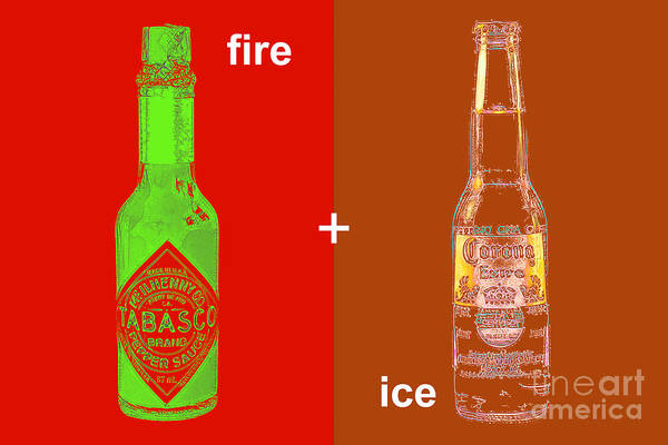 Beer Poster featuring the photograph Fire And Ice 20130405 by Wingsdomain Art and Photography