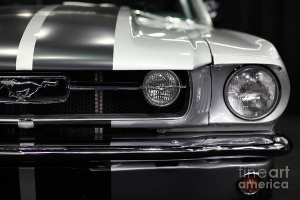 Wingsdomain Poster featuring the photograph Ford Mustang Fastback - 5d20342 by Wingsdomain Art and Photography