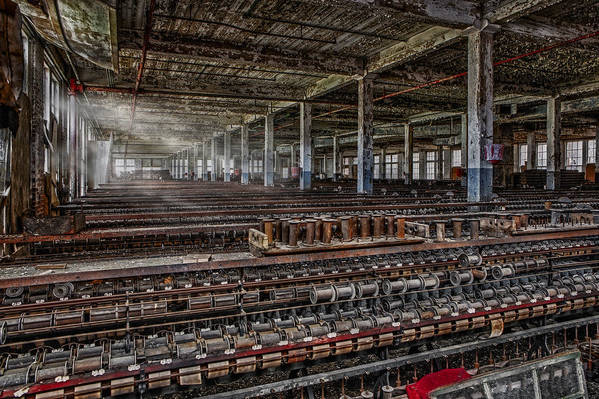 Lonaconing Poster featuring the photograph Forgotten Silk Mill by Susan Candelario