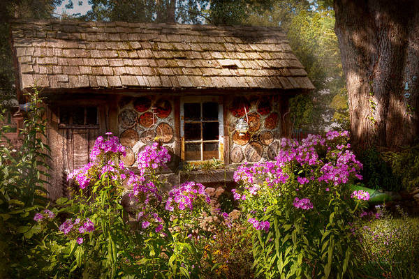 Building Poster featuring the photograph Garden - Belvidere Nj - My Little Cottage by Mike Savad