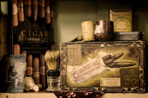 Cigar Poster featuring the photograph Have A Cigar by Heather Applegate