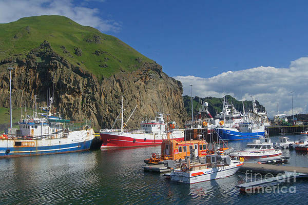 Europe Poster featuring the photograph Heimaey Harbor Iceland by Rudi Prott