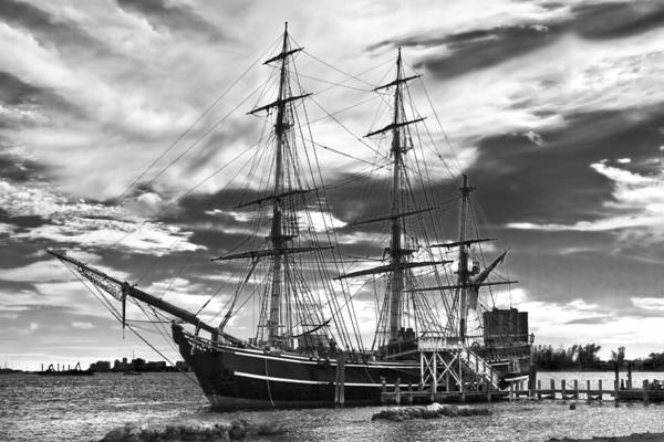 Clouds Poster featuring the photograph Hms Bounty Singer Island by Debra and Dave Vanderlaan